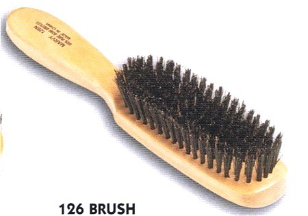 Marvy 7 Row Natural Black Bristle Hairbrush 126n Rubinov S
