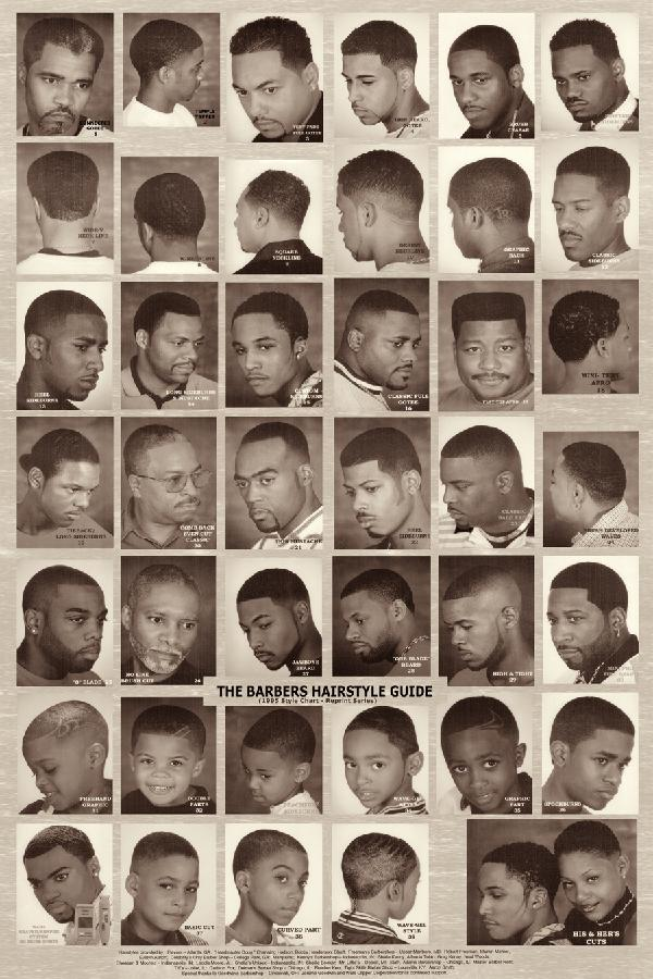Barber Guide : The Barber Hairstyle Guide? Black & White Poster Rubinovs