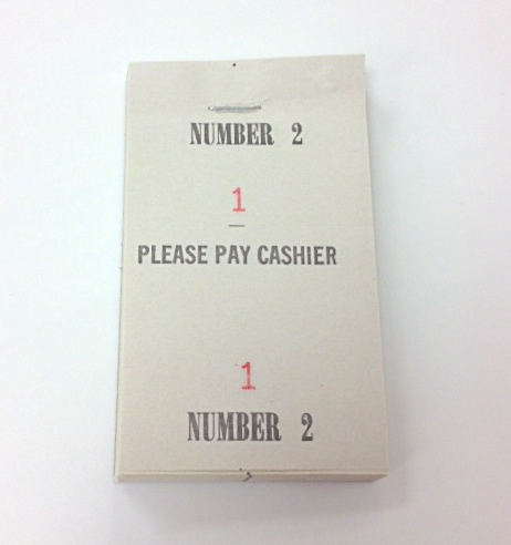 Numbered Please Pay Cashier Tickets 100 Tickets